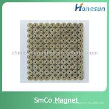 taille micro od2.1xid1.3x1.4mm samarium cobalt aimants smco