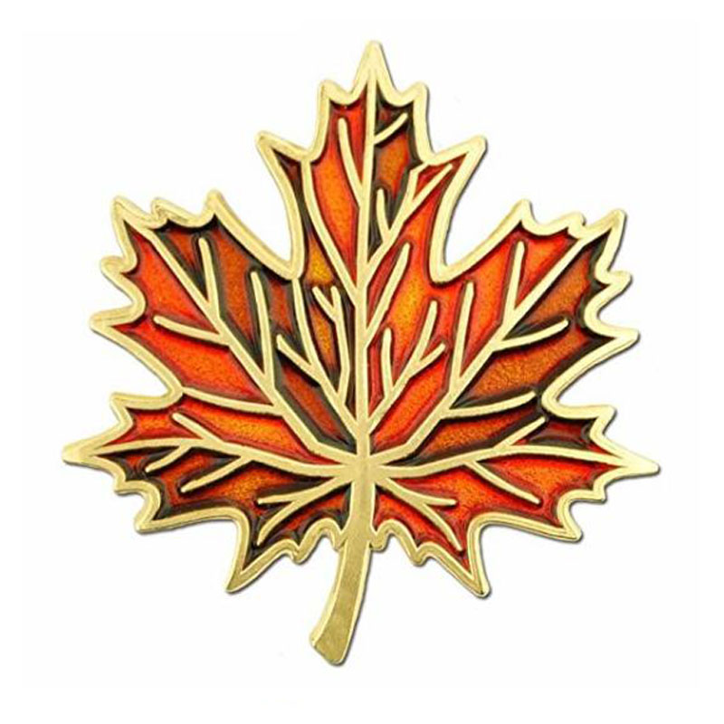 Autumn Fall Maple Leaf Enamel Lapel Pin