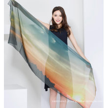 Xaile de seda da seda das senhoras do lenço de 100%