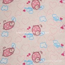 100% tecido de flanela de algodão para pijamas das crianças com animal impresso (C20X10 / 40X42)
