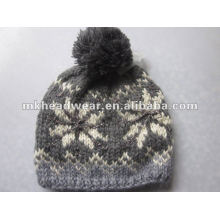fashionable winter hand knitted beanie