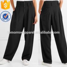 Stretch-gabardine Pantalones de pierna ancha Fabricación Ropa de mujer de moda al por mayor (TA3003P)