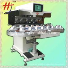 Venda quente de Hengjin 6 cores estresse bola pad máquina de impressão com transportador