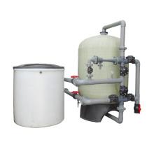 Ablandador de agua de gran capacidad de tanque de resina solo FRP