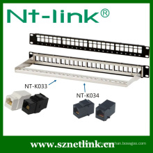 24 порта 19-дюймовый модульный кабель Cat6 STP Unloaded Patch Panel
