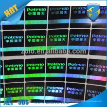 Etiquetas holográficas customizadas anti-falsas de uso único, adesivo de logotipo laser 3d