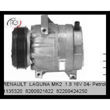 Aire acondicionado Refrigeración 12V Auto AC A / C Compresor para Renault Laguna Mk2 1.8 Piezas de repuesto de aire 8200021822 82200424250