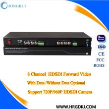 20 km FC fibre port DC12V / 1A 8 canaux hd sdi récepteur