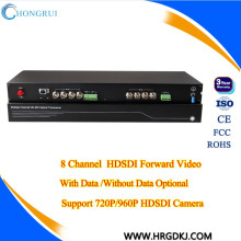 20 km FC fiber port DC12V/1A 8 channel hd sdi receiver