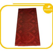 Tela vendedora caliente del color rojo de la acción 5 yardas vestido africano del bordado de Bazin tela del diseñador de compras en línea de alta calidad