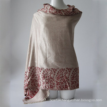 Double faced jacuard shawl and scarf pashmina