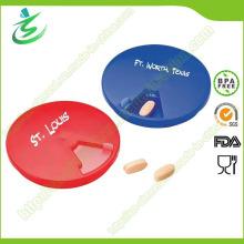 Boîte à pilules en forme de boule en plastique promotionnelle en plastique, boîte à pilules de 7 jours