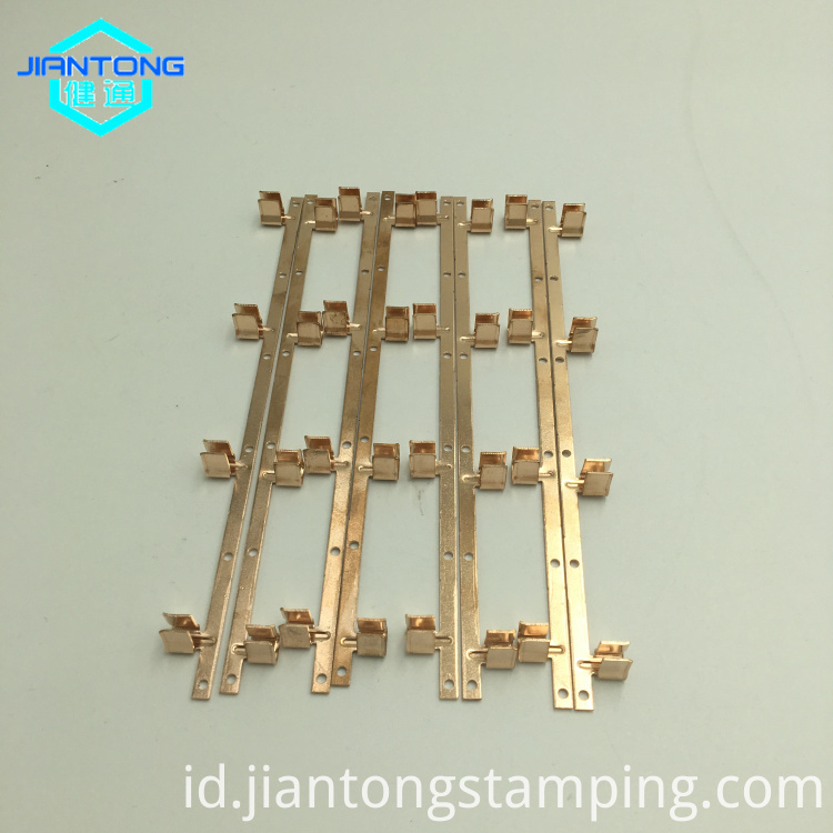 custom precision progressive die copper small electronic stampings