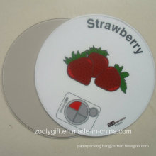 Round Shape PVC Coaster Strawberry Round PVC Cup Placemat