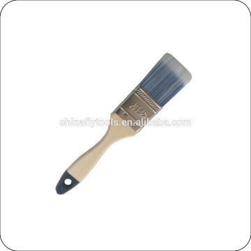 Punho de madeira e poliéster / nylon escova de pintura de cerdas