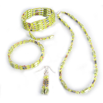 Hematite Set Yellow Jewelry