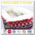 Botas de nieve de piel de invierno para las mujeres fuera