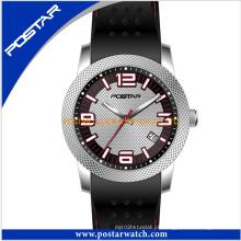 Novo relógio de quartzo projetado com relógio de silicone