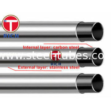 GB / T 18704 Stainless 12Cr17Mn6Ni5N Steel Clad Pipe
