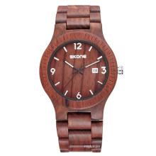 Fashion casual men wood style quartz sports wrist watch