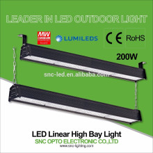 CE RoHS aprobó 200w LED Linear alta iluminación de la bahía con Mean Well HLG Driver