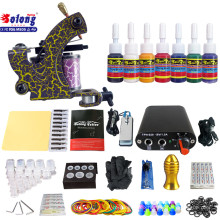 Solong TK105-71 Beginner Tattoo Kit with Tattoo Gun Power Supply Tattoo Kits With Needles