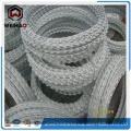 Galvanized single coiled razor barbed wire
