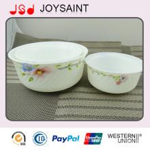 Ensemble de vaisselle de verrerie opale bol / plaque / tasse de lait