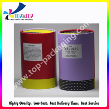 Luxury Cardboard Packaging Cylinder Gift Paper Candle Box
