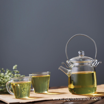 Coffee Tea Leaf Moroccan Glass Teapot
