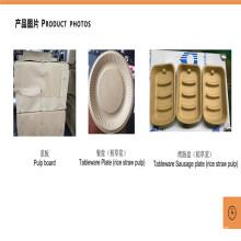Línea de producción de pulpa biológica de pulpa de paja de arroz