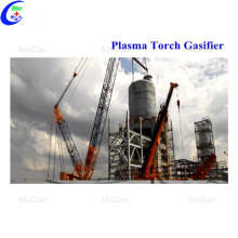 Plasma torch gasifier for hospital liquid waste incinerator