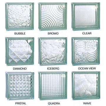 190*190*80mmsolid glass block