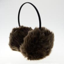 Moda y orejera simple auriculares de peluche para uso de invierno