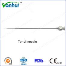 EN T Instrumentos cirúrgicos Agulha de amígdala