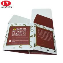 Boîte à bougies personnalisée en papier verre 350gsm