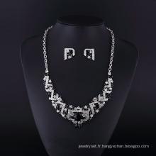 2016 Calssical alliage de zinc strass tchèque et collier en pierre d'agate