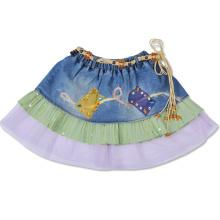 Elastic Waistband Short Skirt for Girls