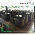 Materiales de construcción impermeables al aire libre Decking compuesto plástico de madera WPC