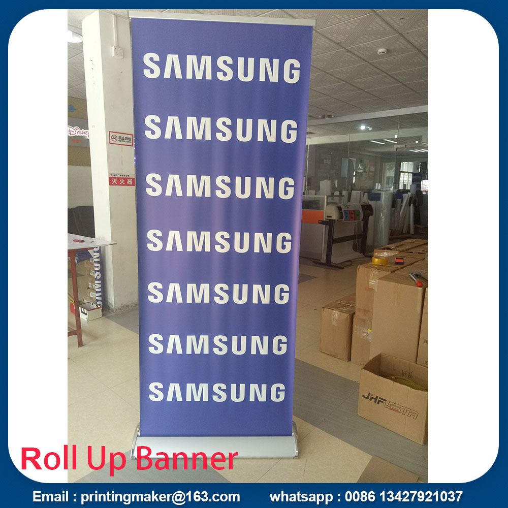 Luxury silver Pull up Banners Roller up Banners