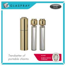 SCALA Twist und Spray 20ml glänzendes Gold nachfüllbare Parfümflasche