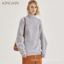 Ladies Alpaca Pullover Wool Sweater Winter Batwing Sleeves Design