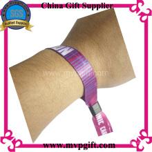 Einmalige Verwendung Gewebter Textil-Armband für Events (m-wb28)