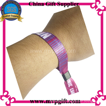 One Time Use Woven Textile Wristband for Events (m-wb28)