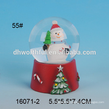 Custom made resin snowman water globe