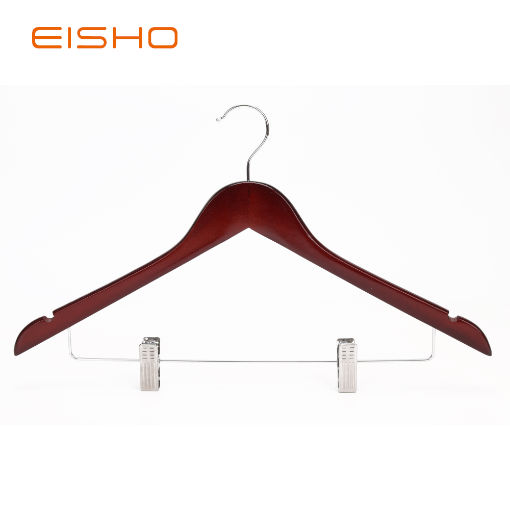Ewh0053 Wooden Hangers With Clips