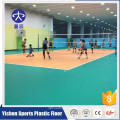 100% pure environment plastic protected safety antiskid non-slip shock absorption orange litchi volleyball indoor flooring