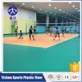 100% puro ambiente de plástico protegido segurança antiderrapante antiderrapante absorção de choque orange litchi voleibol piso interior