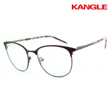 Trending hot half rim frames optical glasses frames fancy stainless steel eye glasses frames