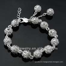 Alibaba Hot sale fashion silver charm bracelet jewelry BSS-022